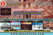 HOLYLAND TOUR 12 - 23 Februari 2019 by ETIHAD AIRWAYS Mesir - Israel - Jordan + Bermain Salju di Hermon + Red Sea *5 Resort + PETRA