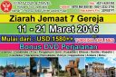 TOUR KE TURKI 11 - 21 Maret 2016 (11Hari) ziarah 7 gereja mula mula by Turkish Airlines